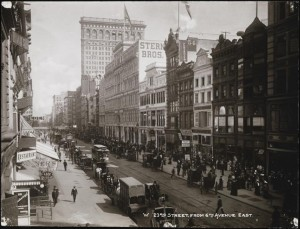 [West 23rd Street from 6th Avenue East.]