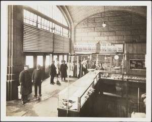 [Interior of market under the Queensboro Bridge.]