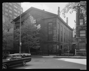 144 East 20th Street. Exterior of Friends Meeting House.