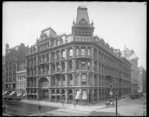 Broadway and East 20th Street. Lord and Taylor, old building.
