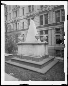 Broadway and Wall Street. Tomb of Alexander Hamilton, Trinity churchyard.