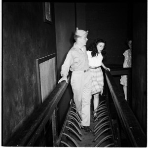 Palisades Amusement Park [People in a haunted house.]