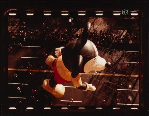 [Mickey Mouse balloon in the Macy's Thanksgiving Day Parade.]