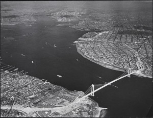 [Aerial view of Brooklyn, Staten Island and New York Harbor.]