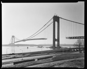 Verrazano Narrows Bridge, general view  from Ft. Hamilton S.E.